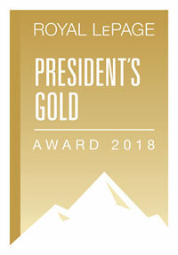 Royal Le Page Presidents Gold Award 2018